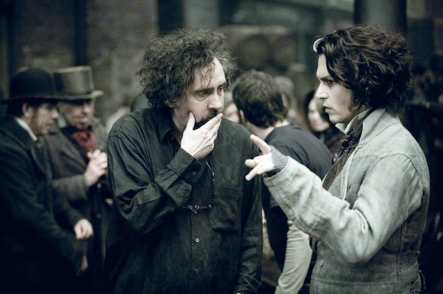 Cặp bài trùng Johnny Depp và Sweeney Todd trên trường quay