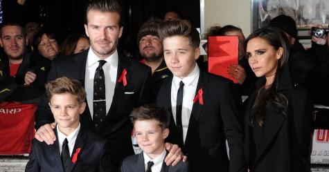 Gia đình David Beckham trên thảm đỏ