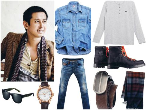 Cach phối đồ jeans theo phong cách của Trần Hoàng Anh