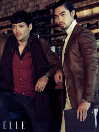 Cách phối đồ nam đẹp với áo khoác da màu nâu