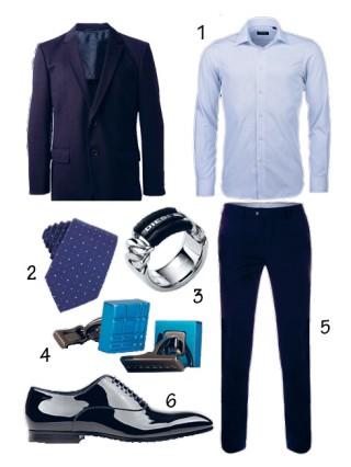 Cách phối đồ nam đẹp với bộ vest xanh