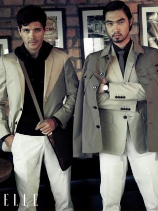 cách phối đồ nam đẹp với áo khoác khaki