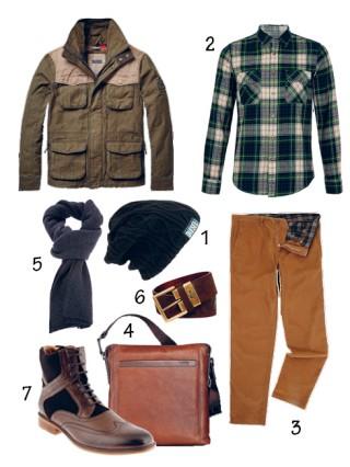 Cách phối áo khoác khaki túi hộp với quần chino