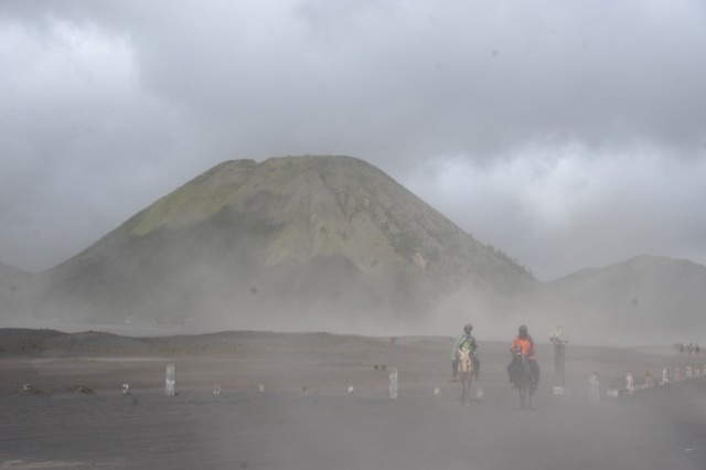 Đường đến núi lửa Bromo ở Indonesia