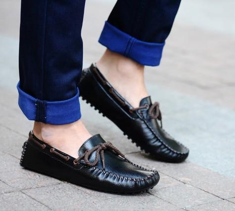 cách mang giày mọi nam đẹp