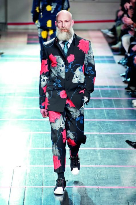 Họa tiết hoa cho áo khoác thời trang mùa đông