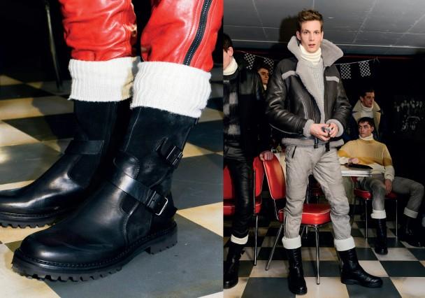 Giày trong BST thời trang thu đông của Belstaff