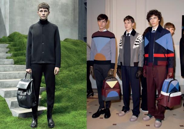 túi xách thời trang thu đông 2015 của Balenciaga và Valentino