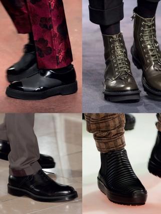 Những kiểu giày trong BST thời trang thu đông 2015 của Alexander McQueen, Neil Barrett, Emporio Armani, Hermès