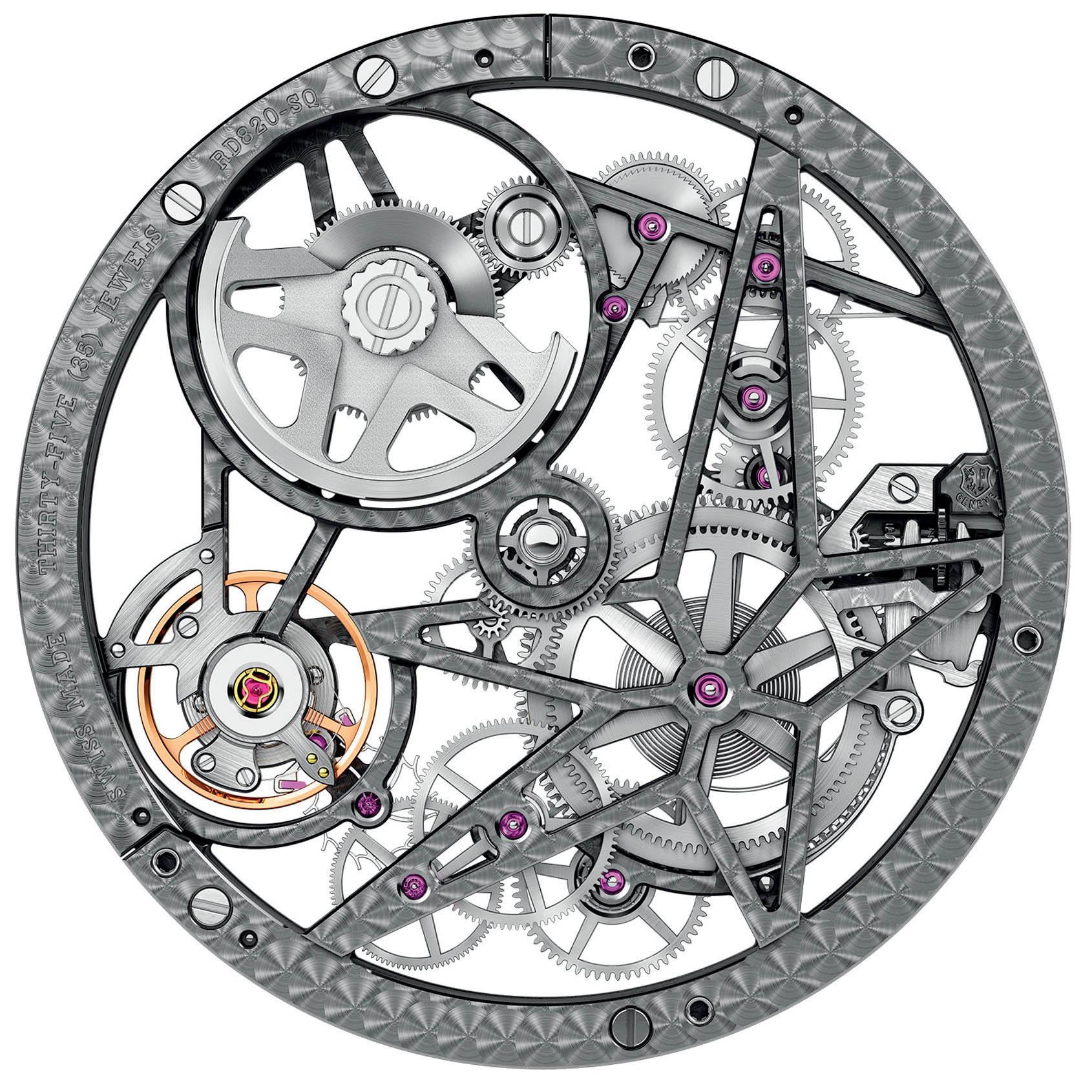 Cỗ máy của đồng hồ Roger Dubuis Excalibur Automatic Skeleton