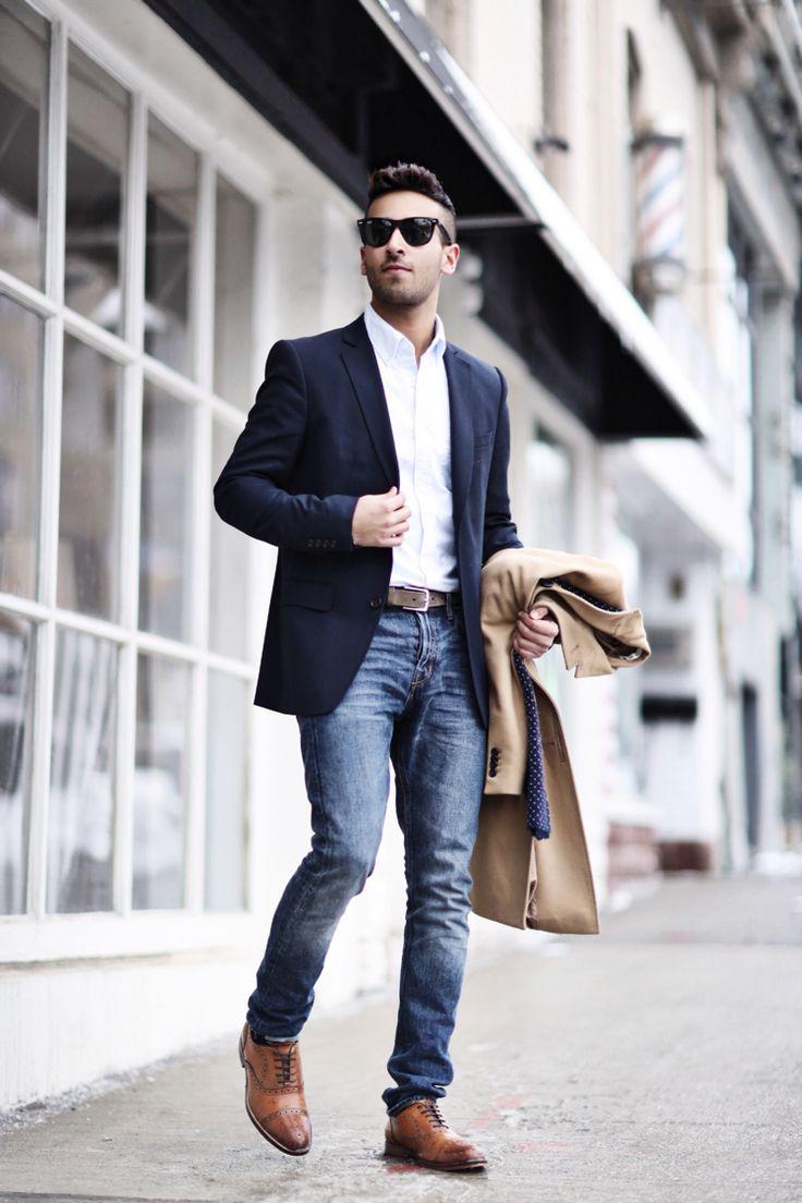 4 cách phối đồ với áo vest nam màu xanh-elle man12