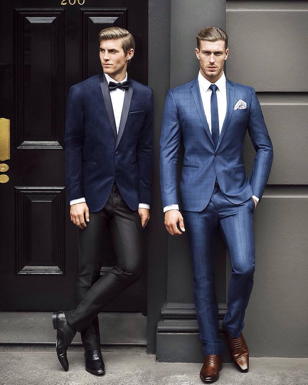 4 cách phối đồ với áo vest nam màu xanh-elle man13