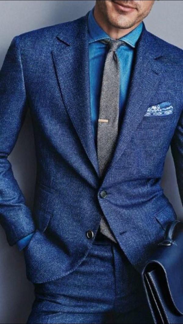 4 cách phối đồ với áo vest nam màu xanh-elle man16