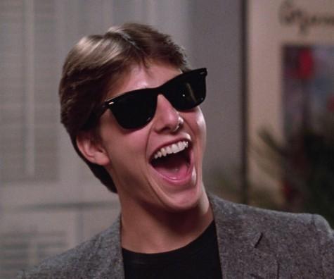 Tom Cruise đeo Wayfarer trong phim Risky Business