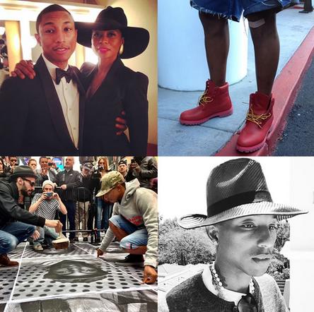 tai khoan instagram Pharrell Williams ve thoi trang