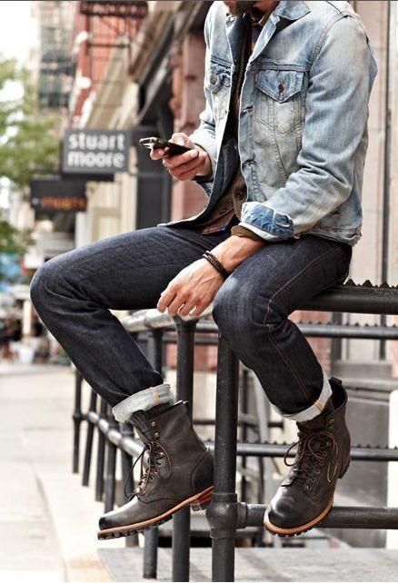 thời trang nam giới quần jeans