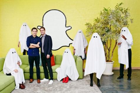 Evan spiegel cùng nhà đồng sáng lập Snapchat, Bobby Murphy.