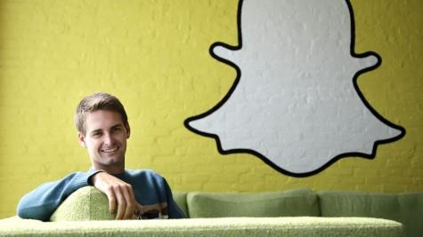 Chân dung Evan Spiegel, nhà sáng lập của siêu ứng dụng Snapchat.