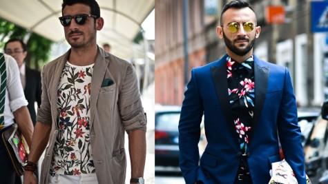 cách phối đồ cho nam áo hoa và áo blazer