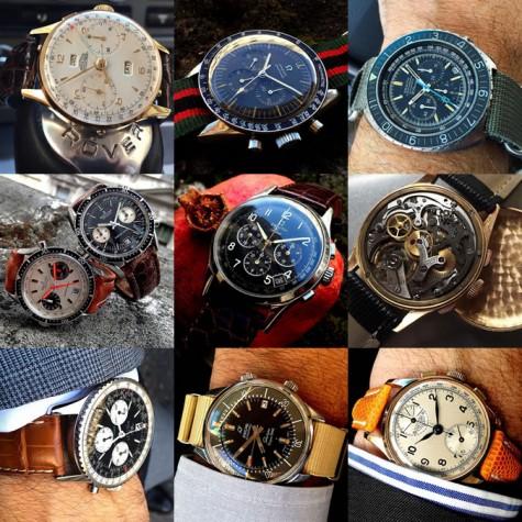 Đồng hồ cao cấp cổ trên tài khoản instagram @watchfred