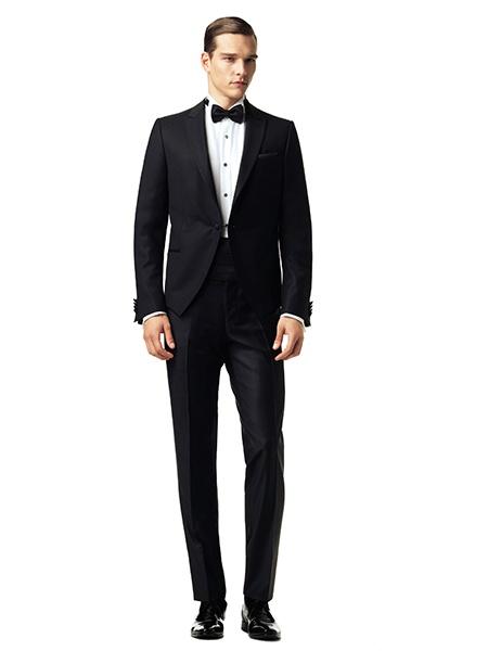 cach phoi do nam black tie