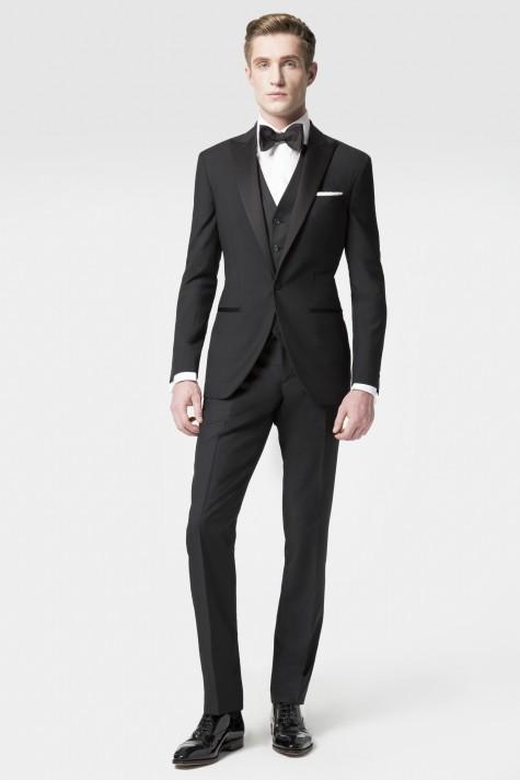 cach phoi do nam theo phong cach black tie