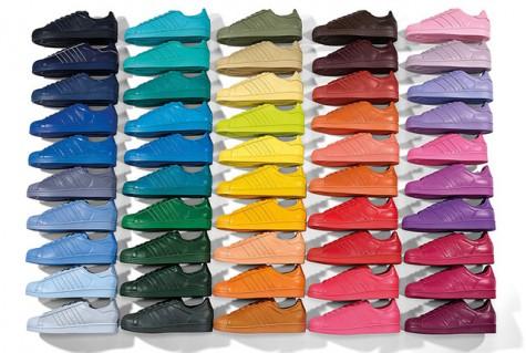 Giày thể thao nam đẹp Adidas x Pharrell Supercolor