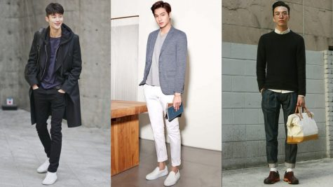 Phối quần tây theo phong cách thời trang Hàn Quốc