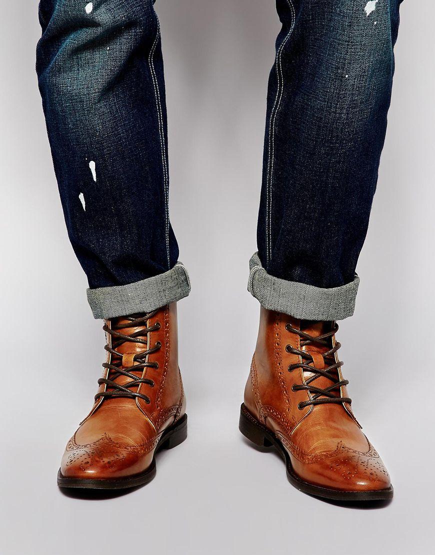 cách phối quần áo nam giày bốt cổ cao Asos