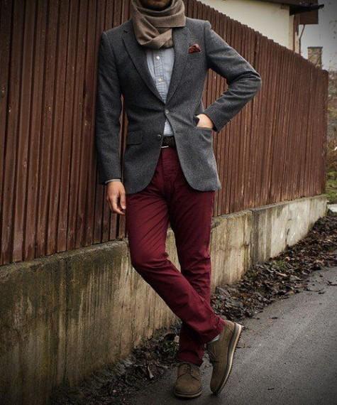 cách phối đồ nam với quần kaki cho mùa thu