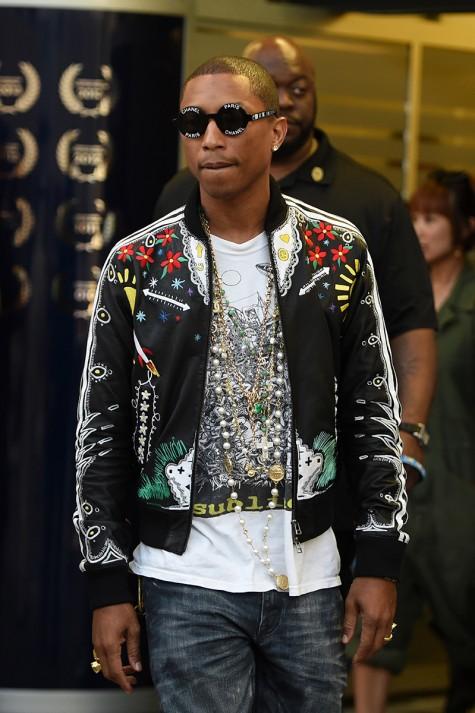 cách phối đồ nam đẹp như Pharrell với áo khoác ngắn