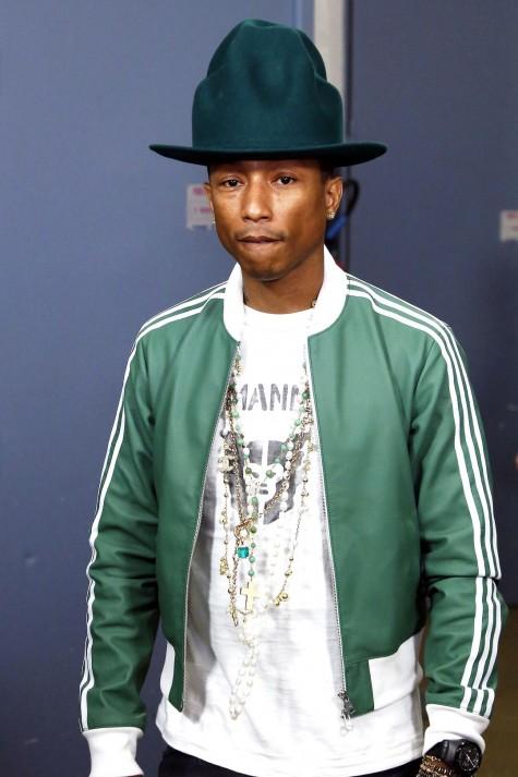 cách phối đồ nam đẹp như Pharrell với áo khoác adidas