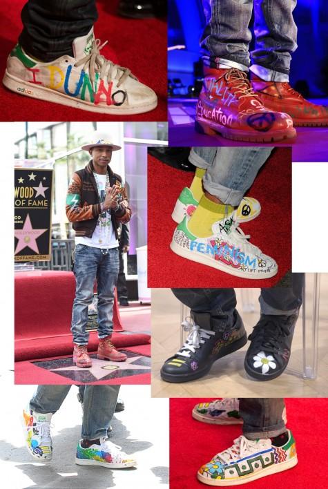 cách phối đồ nam đẹp như Pharrell với giày adidas