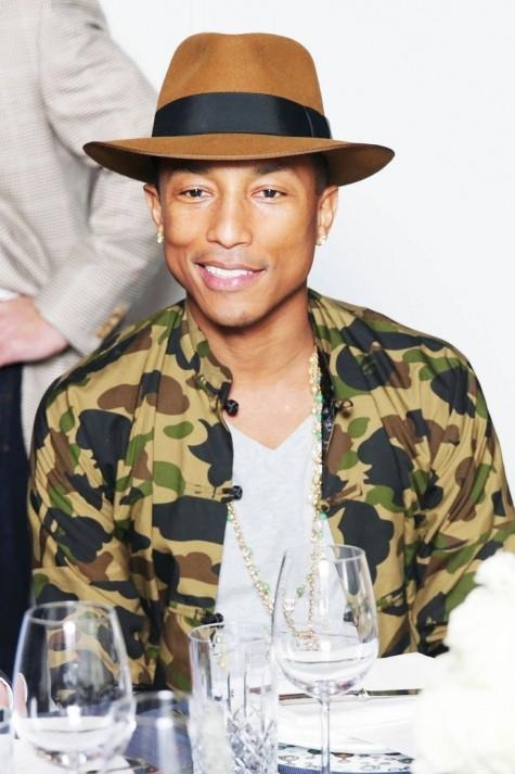 cách phối đồ nam đẹp như Pharrell với hoạ tiết rằn ri