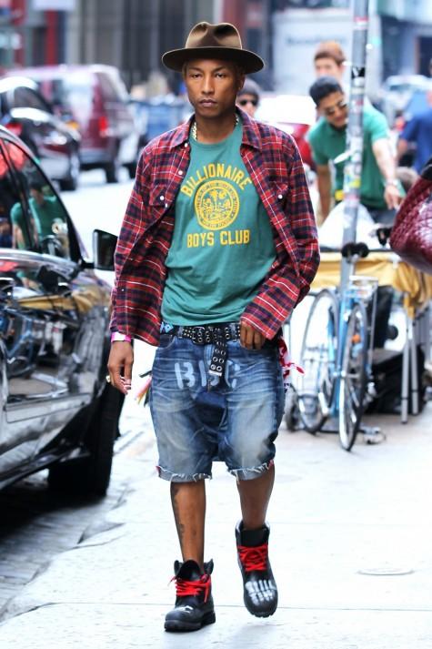 Cách phối đồ nam đẹp như Pharrell với  áo thun
