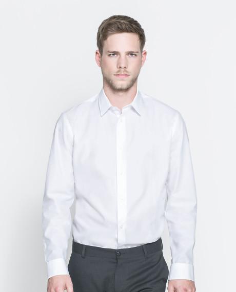 cách mặc áo sơ mi đẹp màu trắng