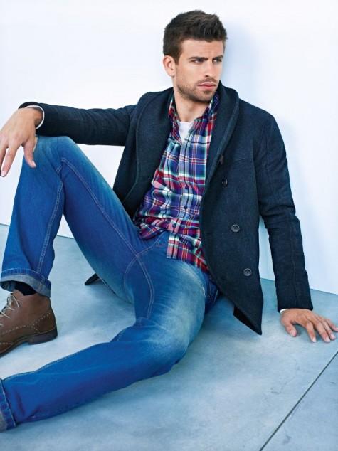 Phong cách thời trang nam tính của Gerard trong chiến dịch quảng cáo của Mango
