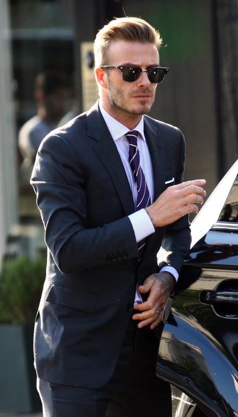 phong cách thời trang nam tính david beckham