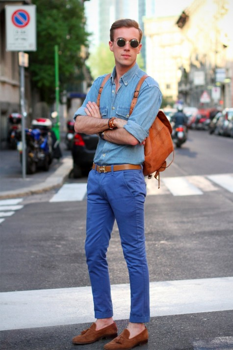 Tassel Loafer với một hình ảnh trẻ trung hơn cùng quần jean xanh xắn gấu