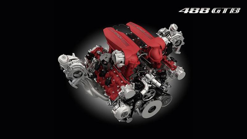 Động cơ của 488 Spider giống như của 488 GTB Couple với động cơ V8.