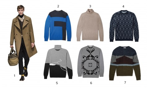 1.Margaret Howell 2.Alexander Wang 3.Gieves & Hawkes 4.Christopher Kane 5.Chalayan 6.Givenchy 7.Valentino