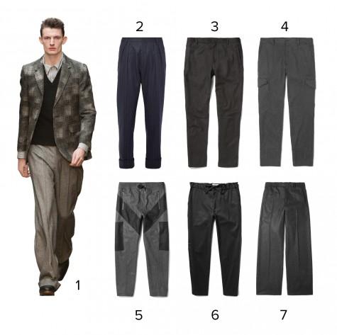 1.E Tautz 2.Wooster + Lardini 3.Lanvin 4.Dolce & Gabbana 5.Givenchy 6.Public School 7.Balenciaga