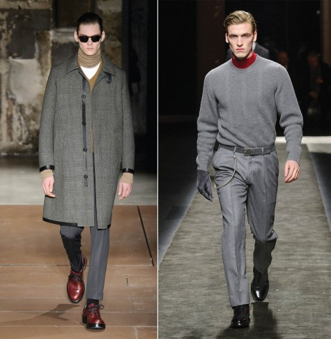 Từ trái qua: Cerruti, Calvin Klein Collection