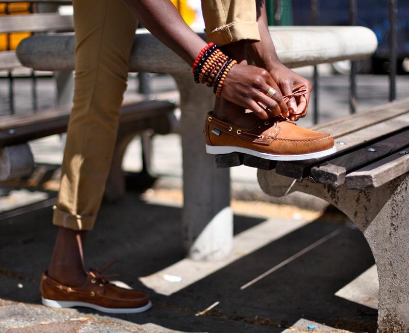 các kiểu giày da nam giới - boat shoes - elleman
