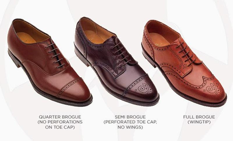 các kiểu giày da nam giới - brogues - elleman