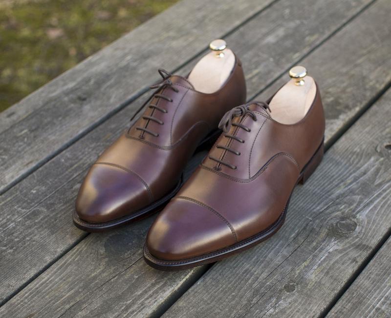 các kiểu giày da nam giới - cap toe oxford - elleman