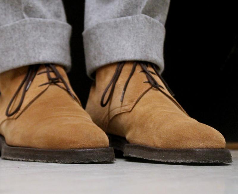 các kiểu giày da nam giới - chukka - elleman