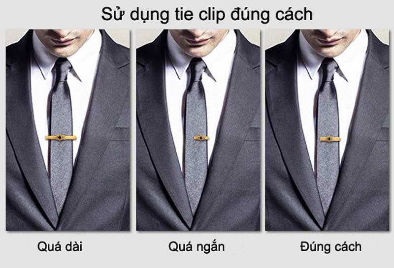 Quy tắc sử dụng kẹp cà vạt (tie clip).