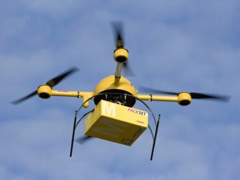 Drone dùng trong dịch vụ giao hàng.