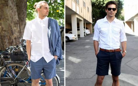 Ai nói sơ mi nam chỉ có thể phối với quần dài, cực kì ổn với quần short chinos cho những ngày hè đấy chứ!?